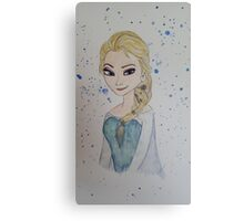 Elsa in watercolour and ink Canvas Print