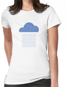 We love weather! rain, clouds, water, raindrop, spring, summer, autumn Womens Fitted T-Shirt