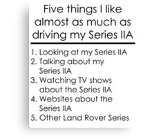 5 Things I Like - Series 2A Canvas Print