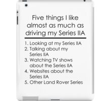 5 Things I Like - Series 2A iPad Case/Skin