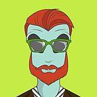 Alien hipster by stickerium
