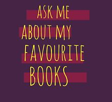 ask me about my favourite books Womens Fitted T-Shirt