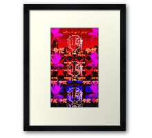 ReZero Rem Vaporwave, re zero kara hajimeru isekai seikatsu Framed Print