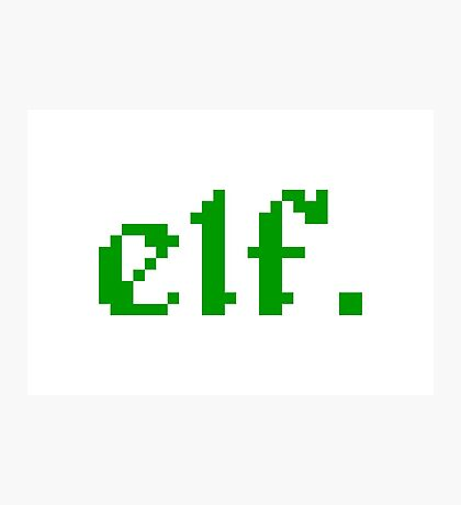 elf. 8 bit pixel gamer Photographic Print