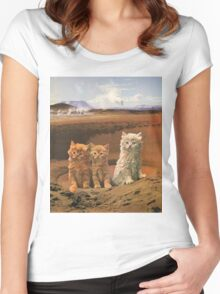 Three kittens adventure Women's Fitted Scoop T-Shirt