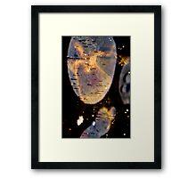 the ice mirror.. Framed Print