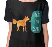For Fox Sake Chiffon Top