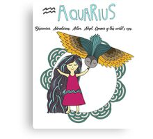 Children's Zodiac - Aquarius Girl Canvas Print