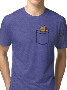 Ginger Cat in Your Pocket Tri-blend T-Shirt