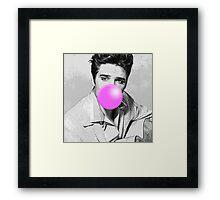 Elvis Bubblegum Framed Print