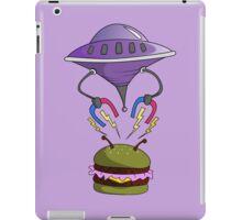 UFO stealing hamburger iPad Case/Skin
