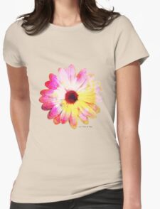 Pop [psychedelic flower] Womens Fitted T-Shirt