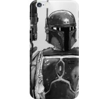 Boba Fett Black and White iPhone Case/Skin