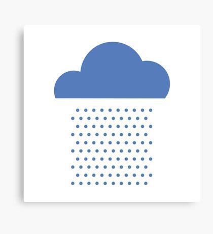 We love weather! rain, clouds, water, raindrop, spring, summer, autumn Canvas Print
