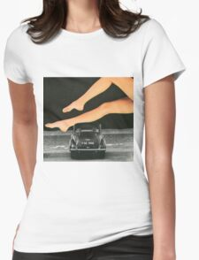 A Day At The Seaside Womens Fitted T-Shirt