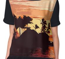 Fijian Sunset Chiffon Top
