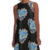 Starry Night inside the Heart A-Line Dress