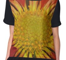 Red and yellow Chiffon Top