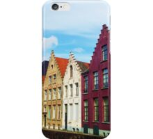 Colorful buildings in Bruges iPhone Case/Skin