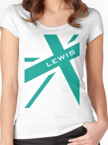 Lewis Hamilton - Team Colours Women's Fitted Scoop T-Shirt