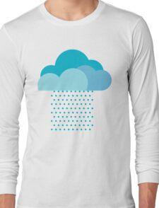 We love weather! rain, clouds, water, raindrop, spring, summer, autumn Long Sleeve T-Shirt