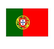 Portuguese Flag of Portugal, Pure & Simple by TOM HILL - Designer
