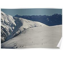 Two skiers, big landscape Poster