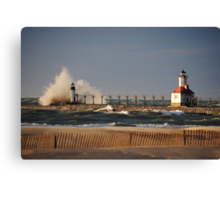 St Joseph North Pier Lighthouse - 1 Canvas Print
