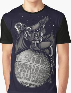 Darth Vader Sit to the moon Graphic T-Shirt