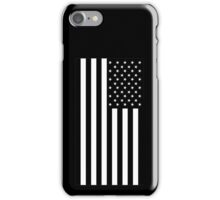 American Flag, BLACK, In Mourning, America, Americana, Stars & Stripes, White on Black, PORTRAIT, USA iPhone Case/Skin