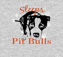Sleeps with PITBULLS Womens Fitted T-Shirt