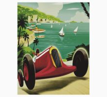 """MONACO GRAND PRIX"" Auto Racing Print Kids Tee"