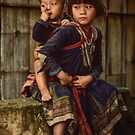 Village Children by Werner Padarin