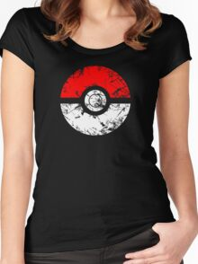 Pokeball - Grunge Women's Fitted Scoop T-Shirt