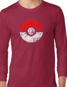 Pokeball - Grunge Long Sleeve T-Shirt