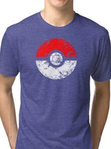 Pokeball - Grunge Tri-blend T-Shirt