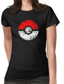 Pokeball - Grunge Womens Fitted T-Shirt