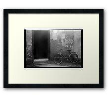 Old bicycle Framed Print