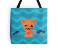 Little kitten with weather ;-) , cat, kitty, pussy Tote Bag