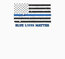 The Blue Lives Matter Awesome American Flag Unisex T-Shirt