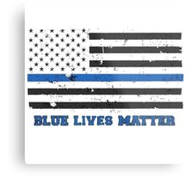 The Blue Lives Matter Awesome American Flag Metal Print