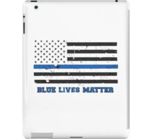 The Blue Lives Matter Awesome American Flag iPad Case/Skin