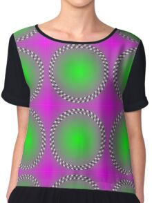 """""""PSYCHEDELIC 3D"""" Whimsical Abstract Print Chiffon Top"""