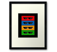 GlASSES! (MLG, THUG LIFE, NO SCOPE, DEAL WITH IT) Framed Print