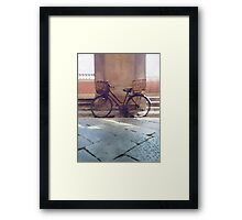 Watercolor painting of a vintage bicycle Framed Print
