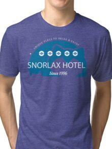 Snorlax hotel. Pokemon Tri-blend T-Shirt