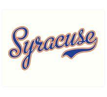Syracuse Script Blue  Art Print
