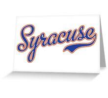 Syracuse Script Blue  Greeting Card