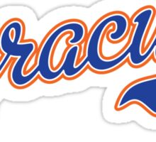 Syracuse Script Blue  Sticker