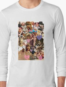 cat collage taylor swift Long Sleeve T-Shirt
